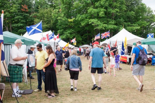 Crowd and Vendors at Fergus Scottish Festival