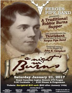 A Night wi' Burns Supper.