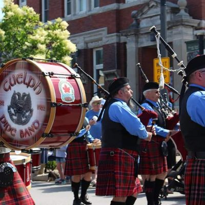 Guelph Pipe Band on Parade Kincardine 2019